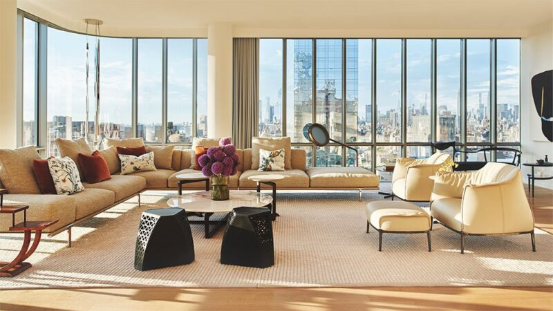 Poltrona Frau furnishes 565 Broome Street apartment within Renzo Piano's new building in New York