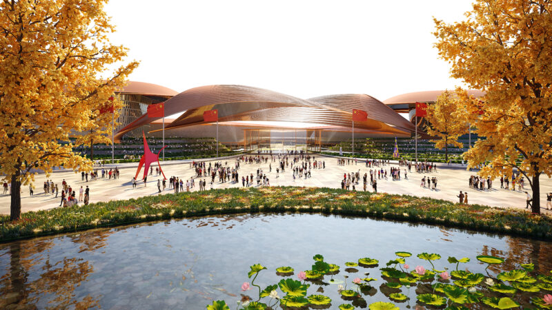 ZHA wins competition to build Phase II of Beijing's International Exhibition Centre, China