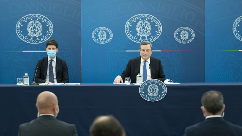 Italy, Prime Minister Mario Draghi and Health Minister Roberto Speranza: the fairs will gradually reopen from July 1st.